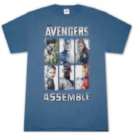 T-shirt The Avengers Assemble Uomo ufficiale