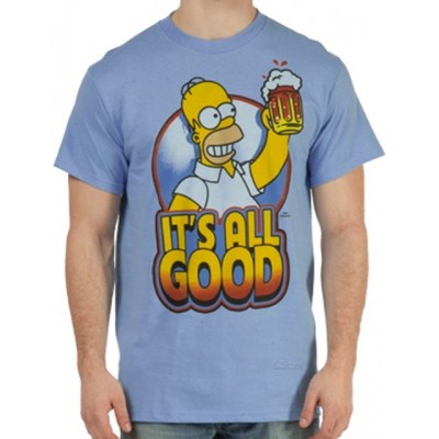 T-shirt Homer Simpson Beer it's all good Uomo ufficiale