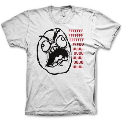 T-shirt Rage guy FFFFFFFFFFUUUUUU Internet memes emoticon maglia Uomo originale