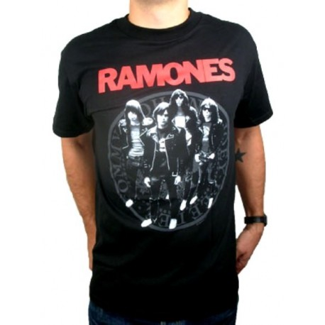 T-shirt Ramones Group Presidential Seal maglia Uomo ufficiale gruppo punk rock