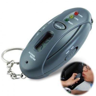 Portachiavi alcool test mini Alcohol Tester breathalyzer keychain con luci LED