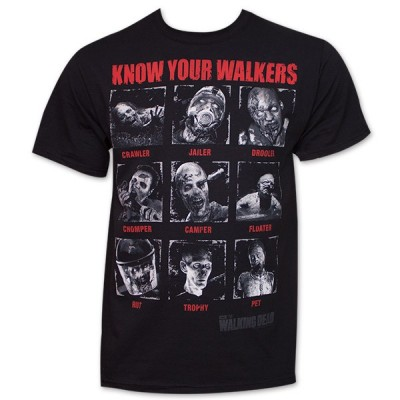T-shirt The Walking Dead Michonne walkers in chains Uomo ufficiale Serie tv