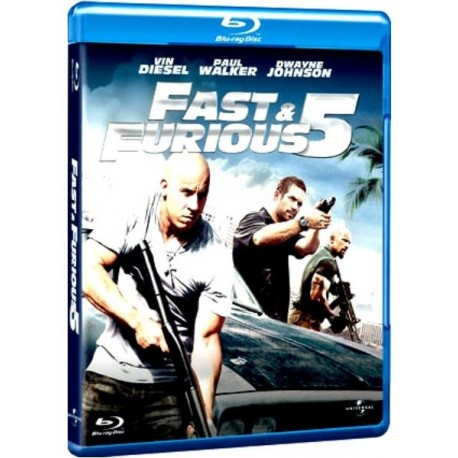 Blu-ray Fast & Furious 5 con Vin Diesel e The Rock 2011 Nuovo