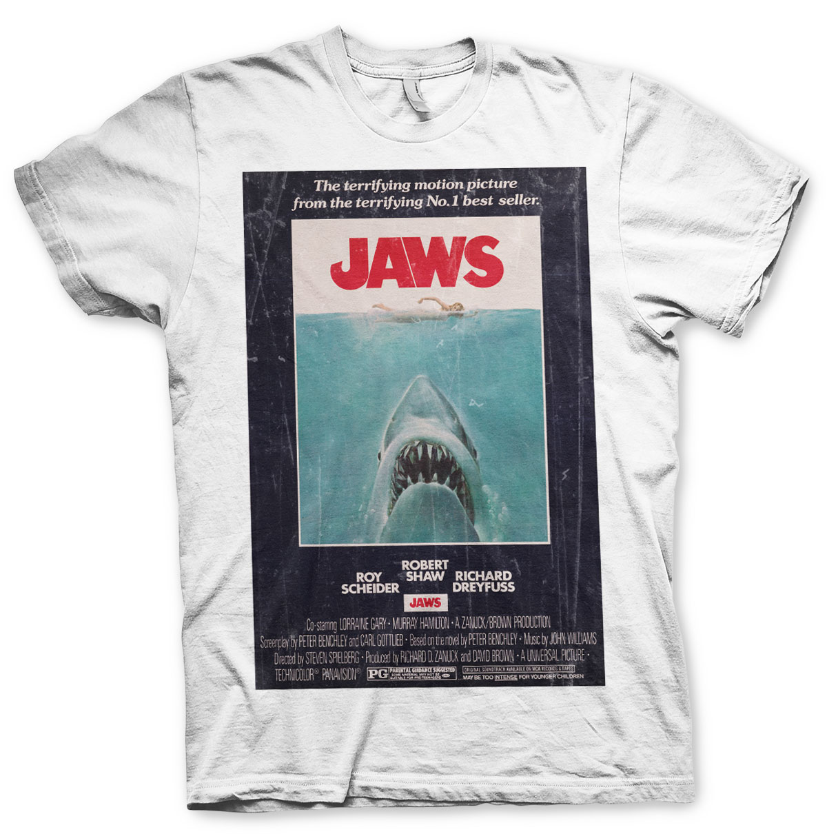 41144ff55 T-shirt Jaws Lo Shark Vintage Original Poster men's sweater official ...