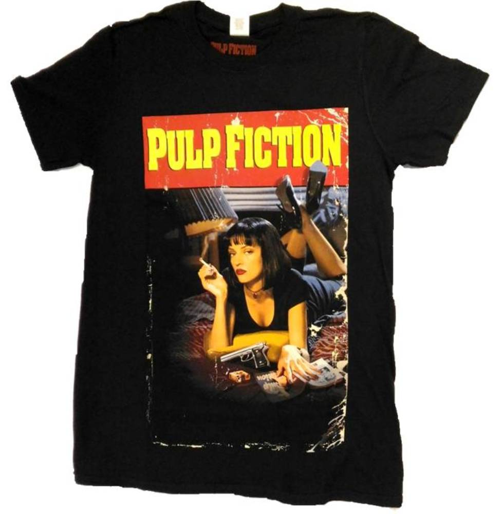 7d0f3482 T-shirt Pulp Fiction - Smoking Stance Poster Mia men's sweater ...