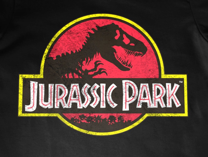 TShirt-People Jurassic Park Distressed Logo Baby Body